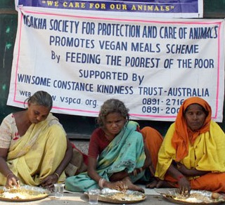 Vegan feeding program in India