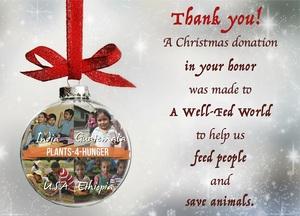 Gift Donation Plants-4-Hunger Christmas
